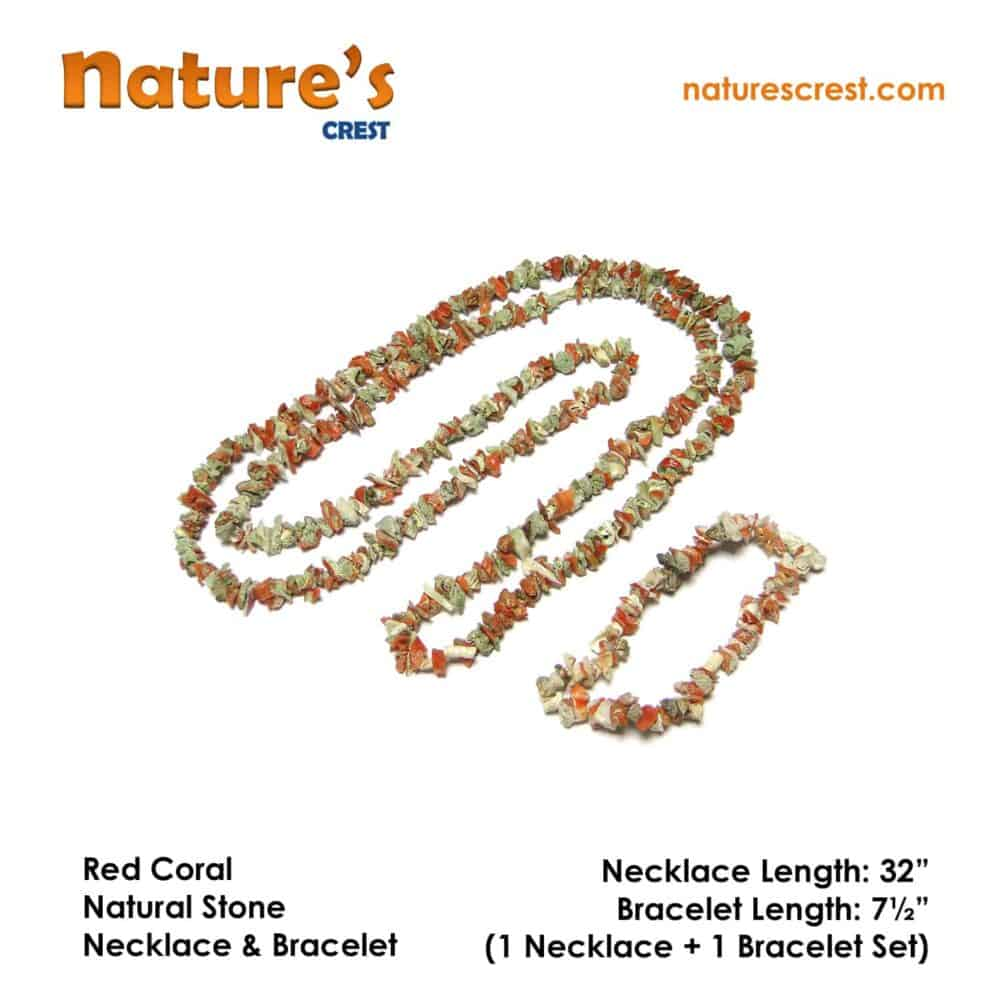 Red Coral Chip Beads Nature's Crest TC040 ₹ 1,249.00