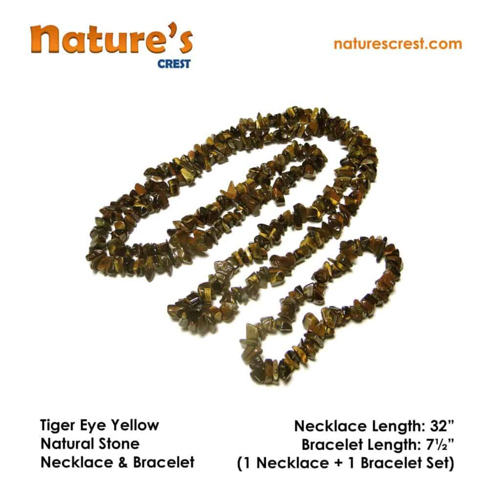 Tiger Eye Yellow Chip Beads Nature's Crest TC046 ₹249.00