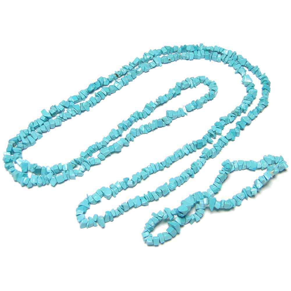 Turquoise Re-Constructed Stone Chip Beads Nature's Crest TC050 ₹249.00