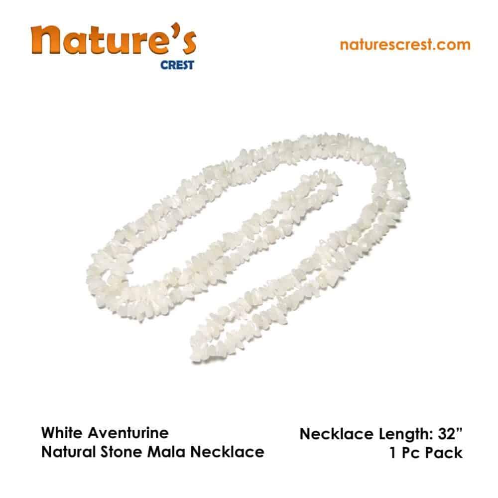 White Aventurine Chip Beads Nature's Crest TC053 ₹249.00