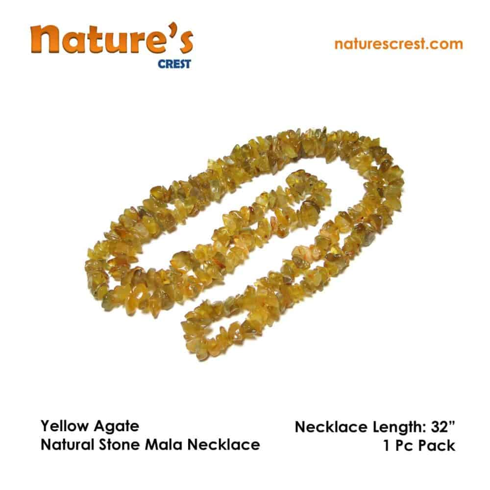 Yellow Agate Chip Beads Nature's Crest TC056 ₹299.00