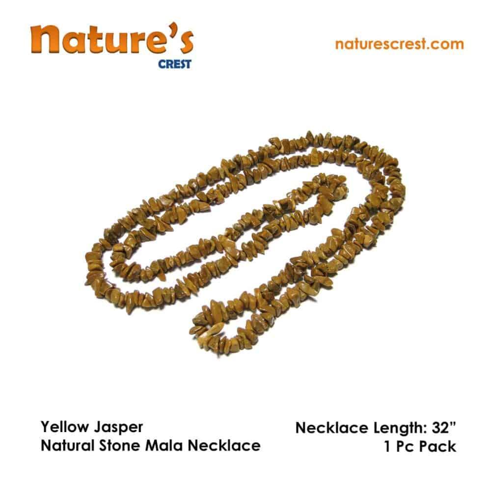 Yellow Jasper Chip Beads Nature's Crest TC057 ₹299.00